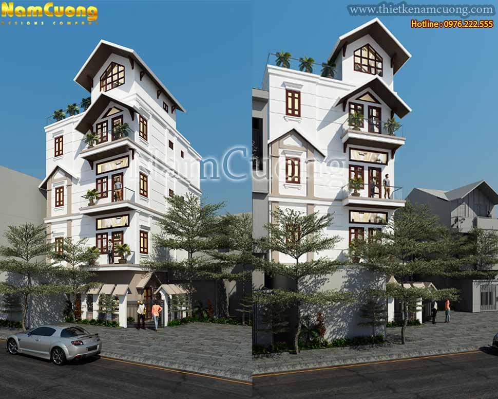 Thiết kế biệt thự căn góc tại Quảng Bình