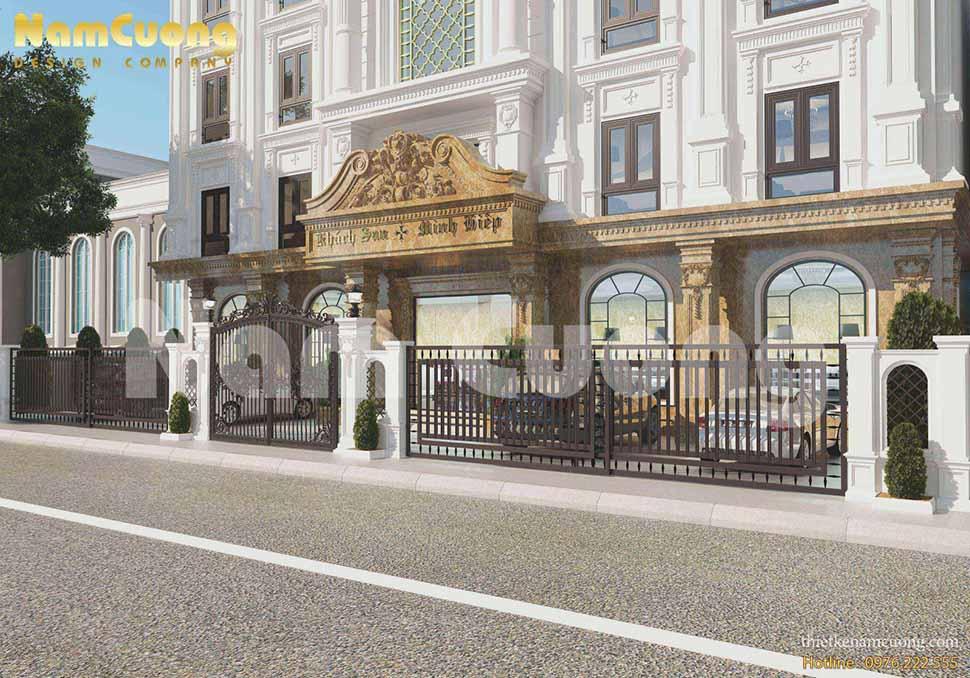 Thiết kế khách sạn 300m2 ở Quảng Ninh