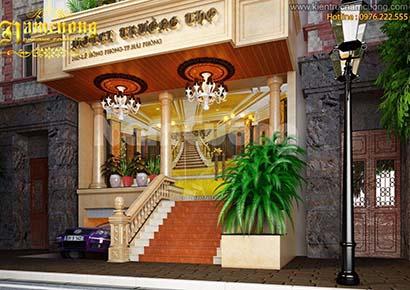 Thiết kế khách sạn mini 200m2 tân cổ điển