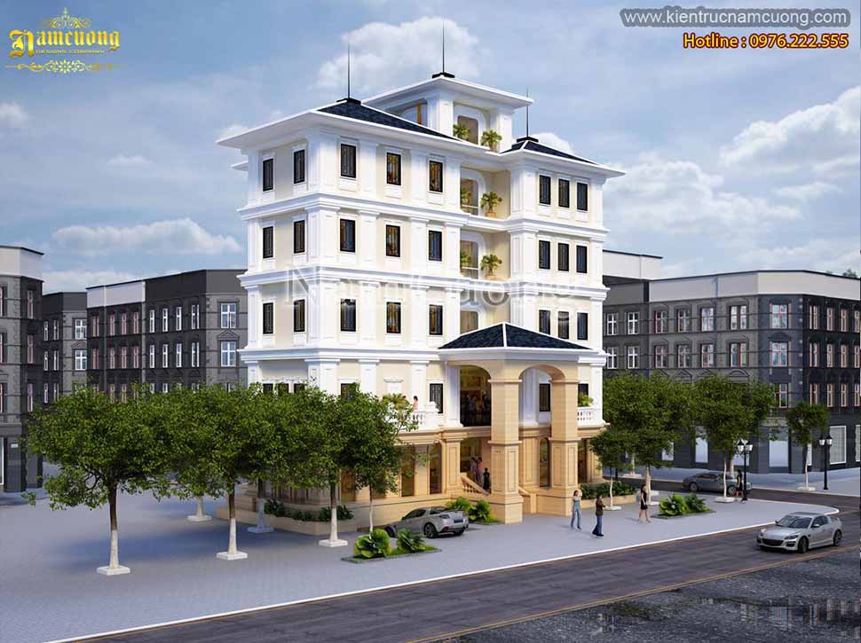 Thiết kế khách sạn rộng 10m tại Quảng Ninh