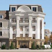 Thiết kế nhà hàng 3 tầng kiểu Pháp