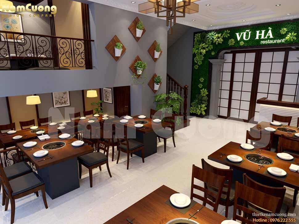 Thiết kế nhà hàng lẩu nướng không khói Nhật Bản