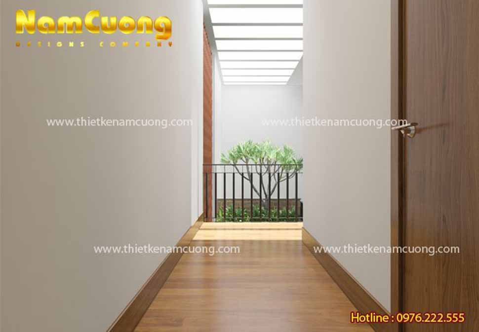 hành lang nhà hiện đại