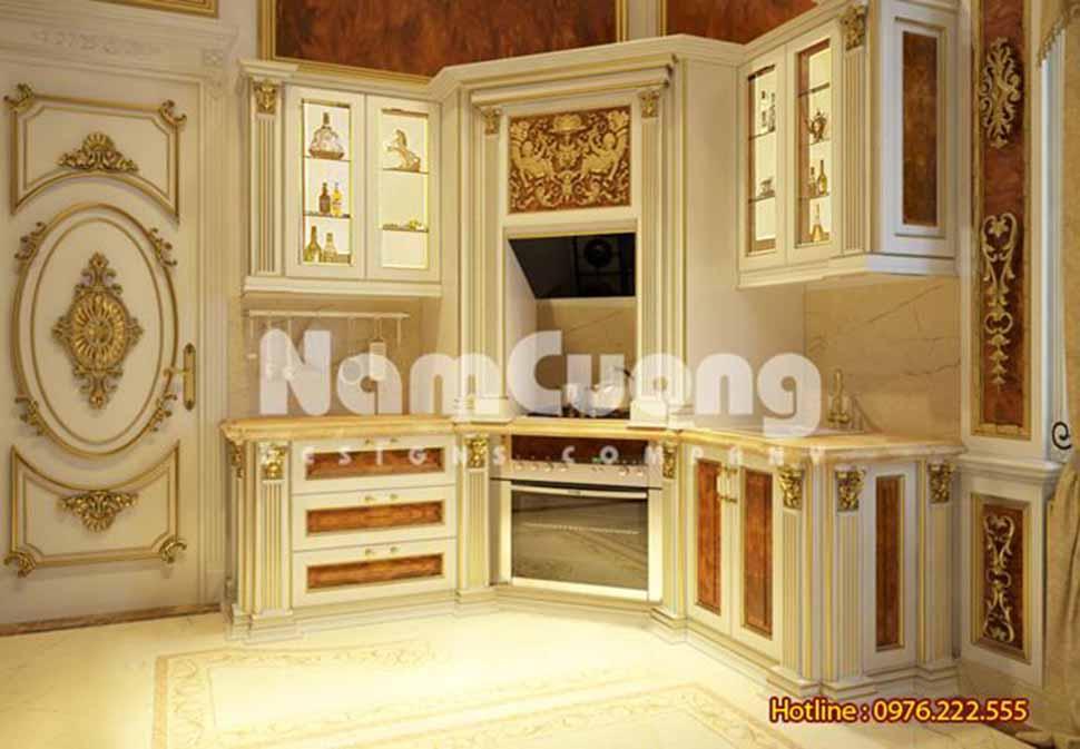 Thiết kế nội thất phòng bếp kiểu Pháp