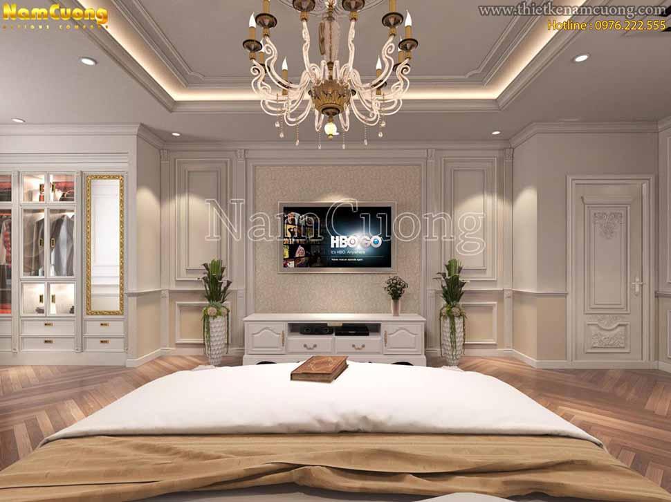 Thiết kế nội thất phòng ngủ 30m2 sang trọng