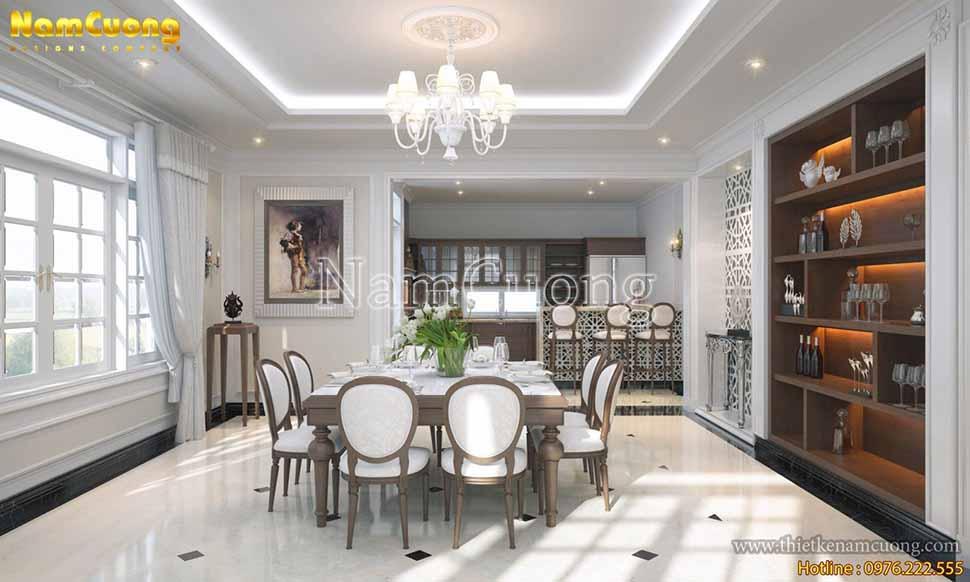 Thiết kế phòng bếp tân cổ điển