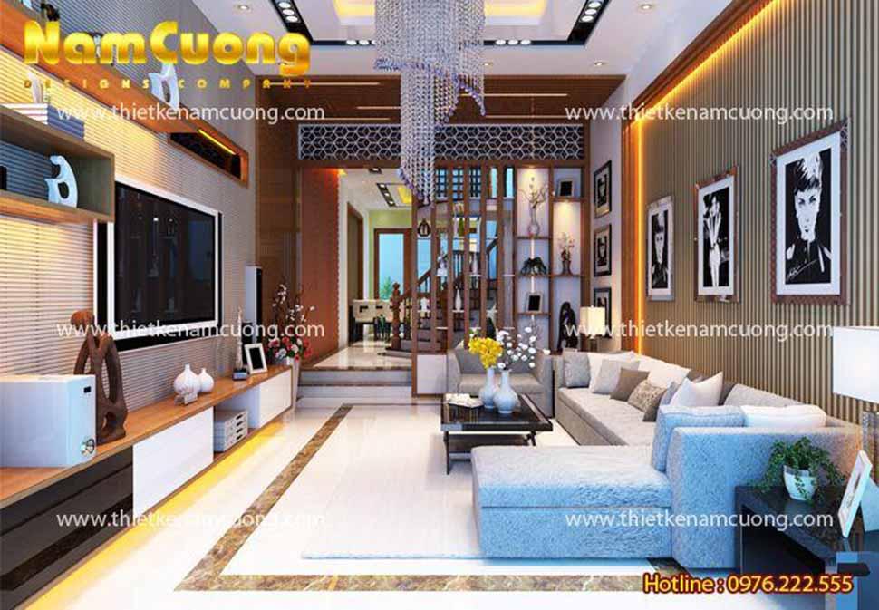Thiết kế phòng khách hiện đại tại Hải Phòng