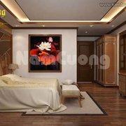 Thiết kế phòng ngủ bằng gỗ cho biệt thự Pháp