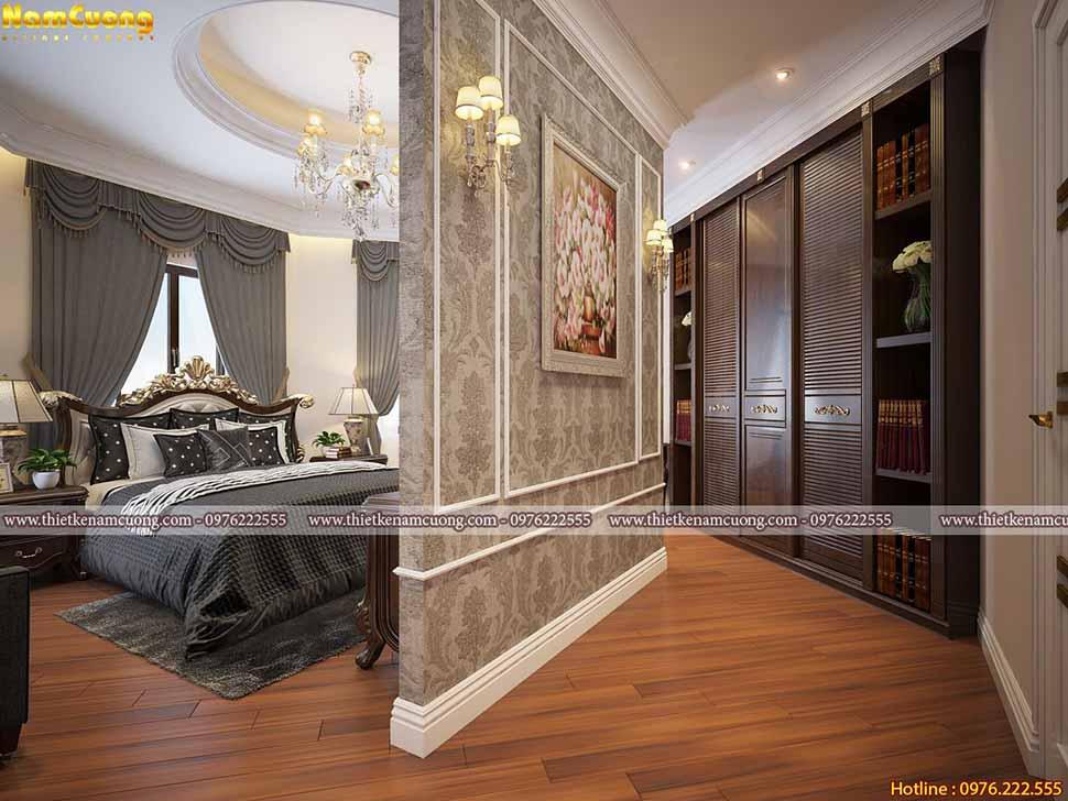 Thiết kế phòng ngủ dài sang trọng tại Hải Phòng