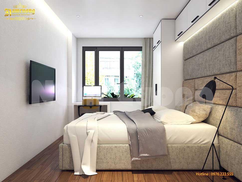 Sắp xếp nội thất theo chiều dọc giúp căn phòng thêm rộng
