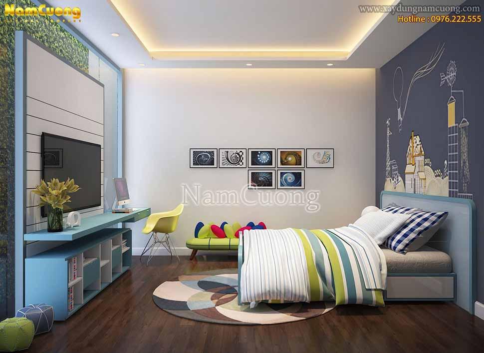 Thiết kế phòng ngủ hiện đại 16m2