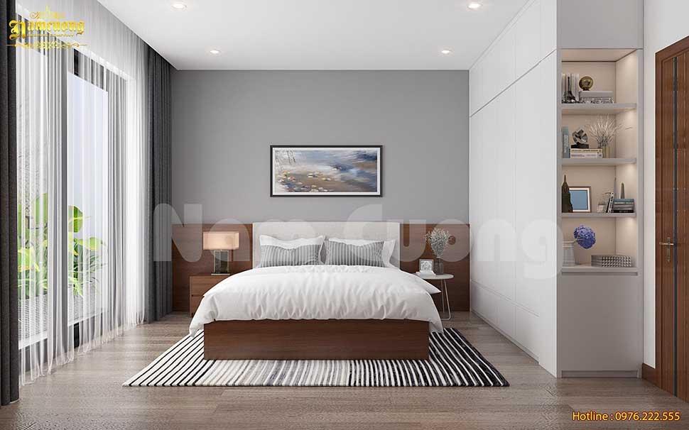 Thiết kế phòng ngủ được trang trí ấn tượnga