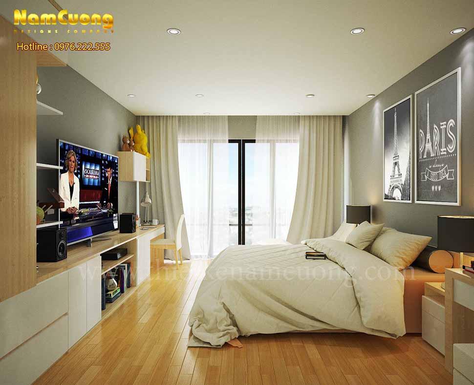 Phối cảnh thiết kế phòng ngủ lớn