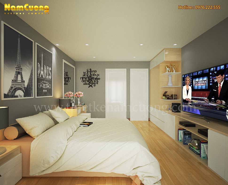 Một góc nhìn khác của thiết kế phòng ngủ