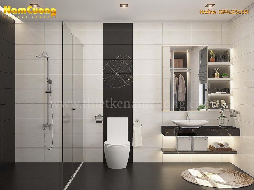 Thiết kế nội thất phòng tắm hiện đại