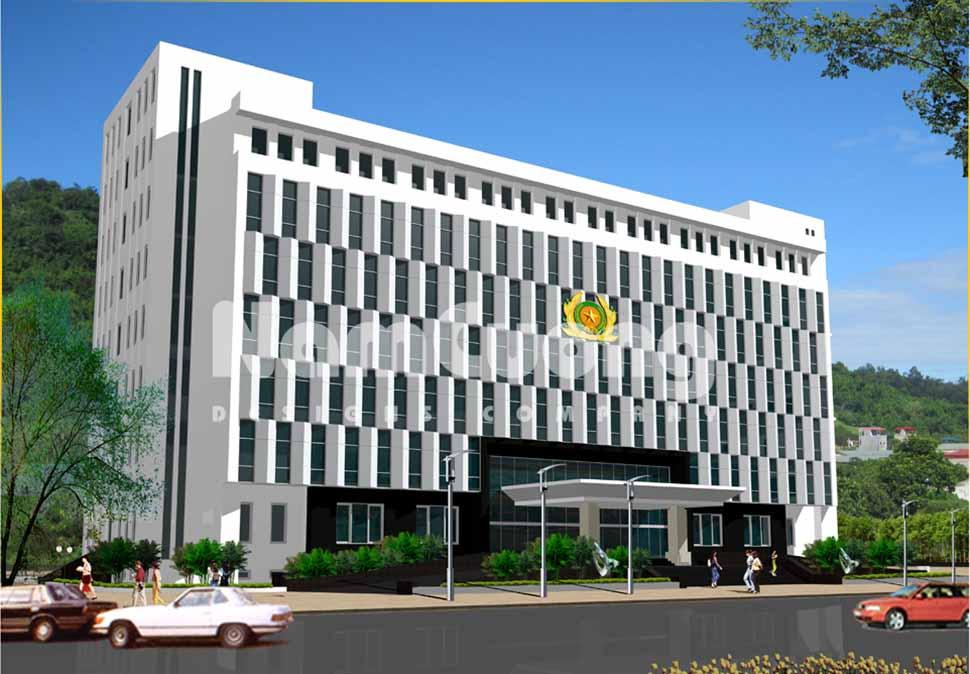 Thiết kế trụ sở cơ quan  7 tầng mặt tiền 50 m
