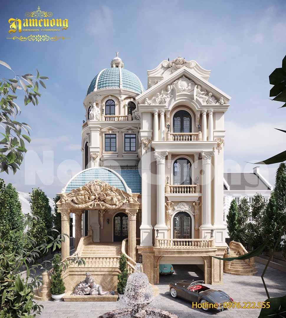 thiết kế lâu đài cổ điển pháp