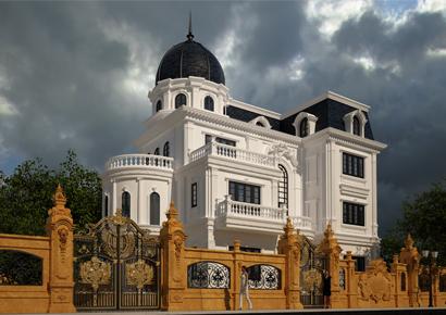 mẫu lâu đài kiểu pháp đẹp