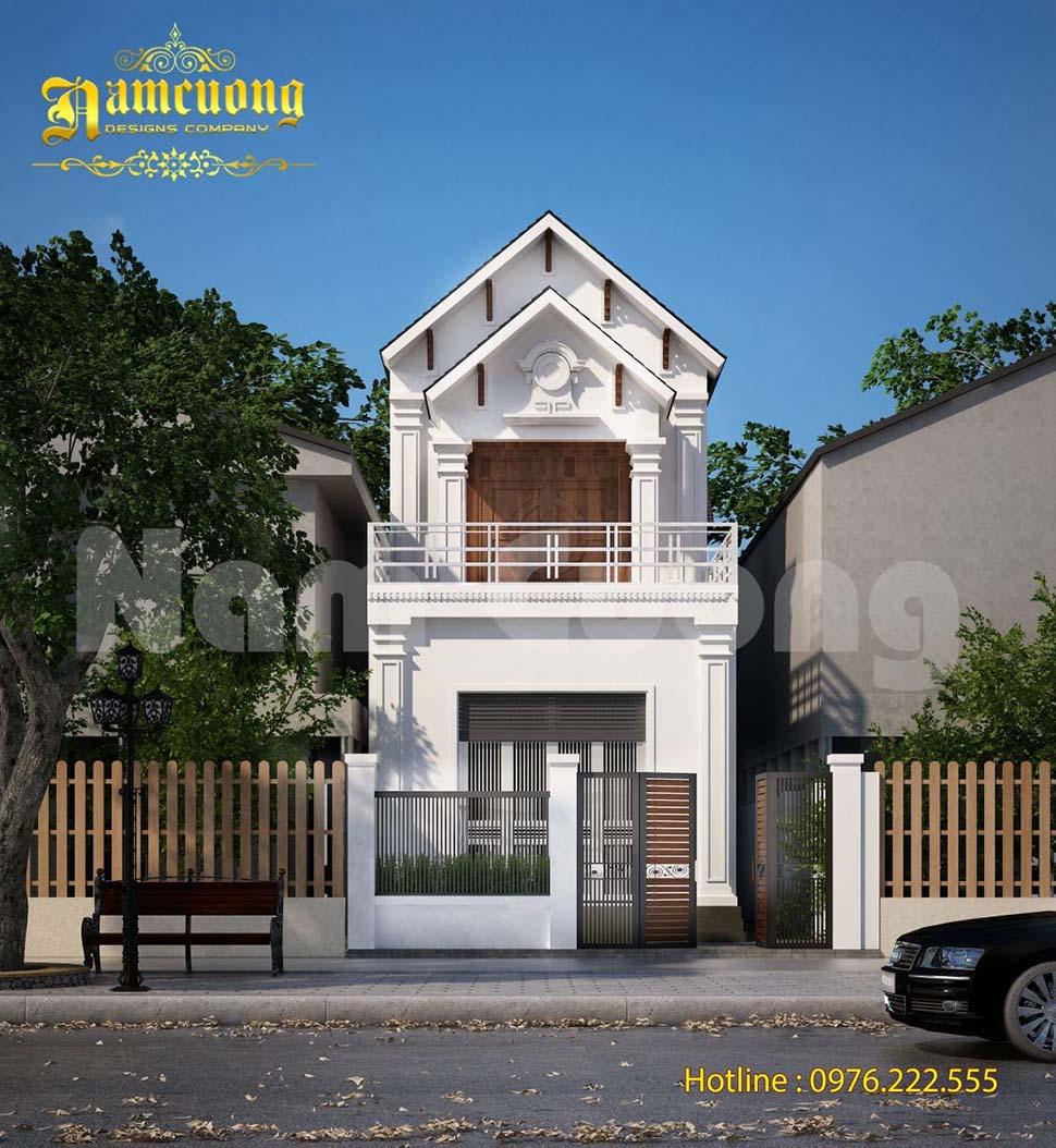kiến trúc nhà mái thái 2 tầng