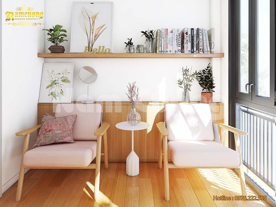 phòng đọc sách bằng gỗ