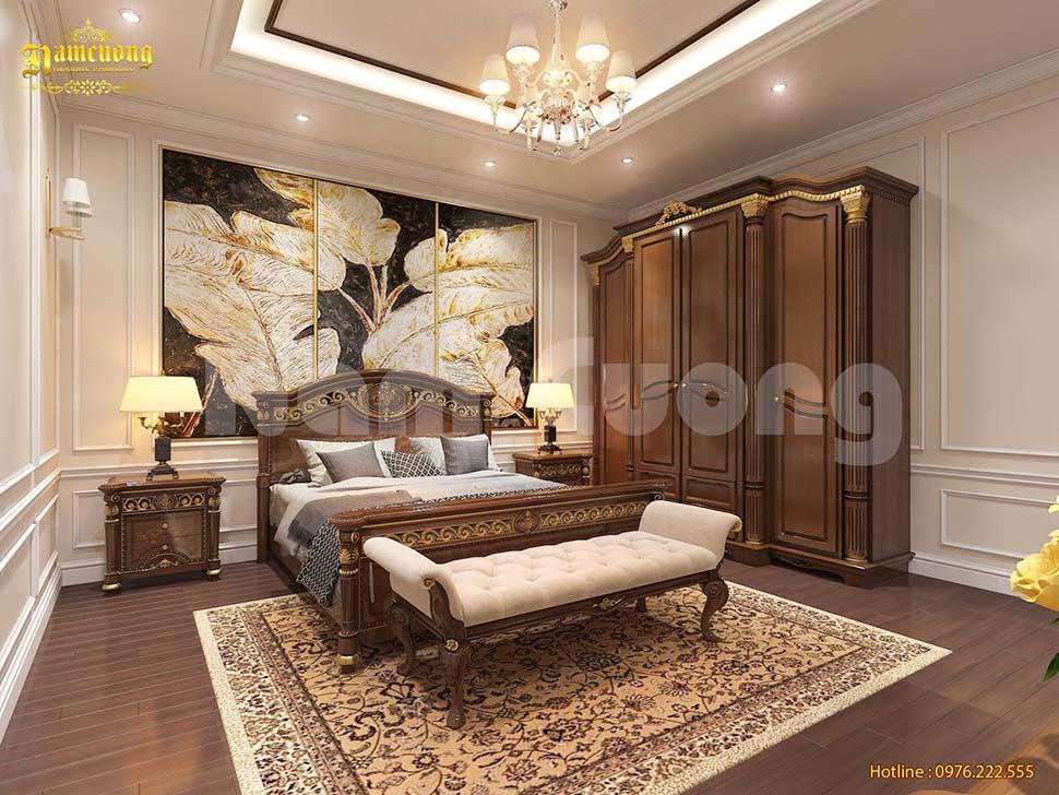 phòng ngủ ông bà bằng gỗ