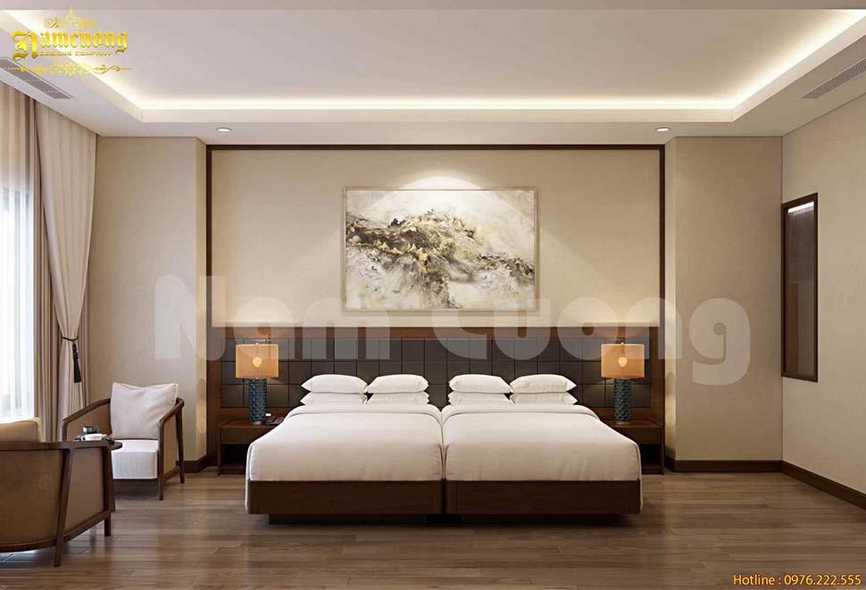 phòng khách sạn giường đôi