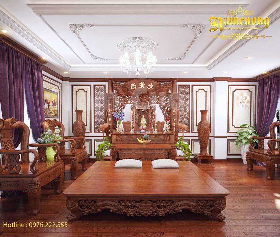phòng thờ bằng gỗ