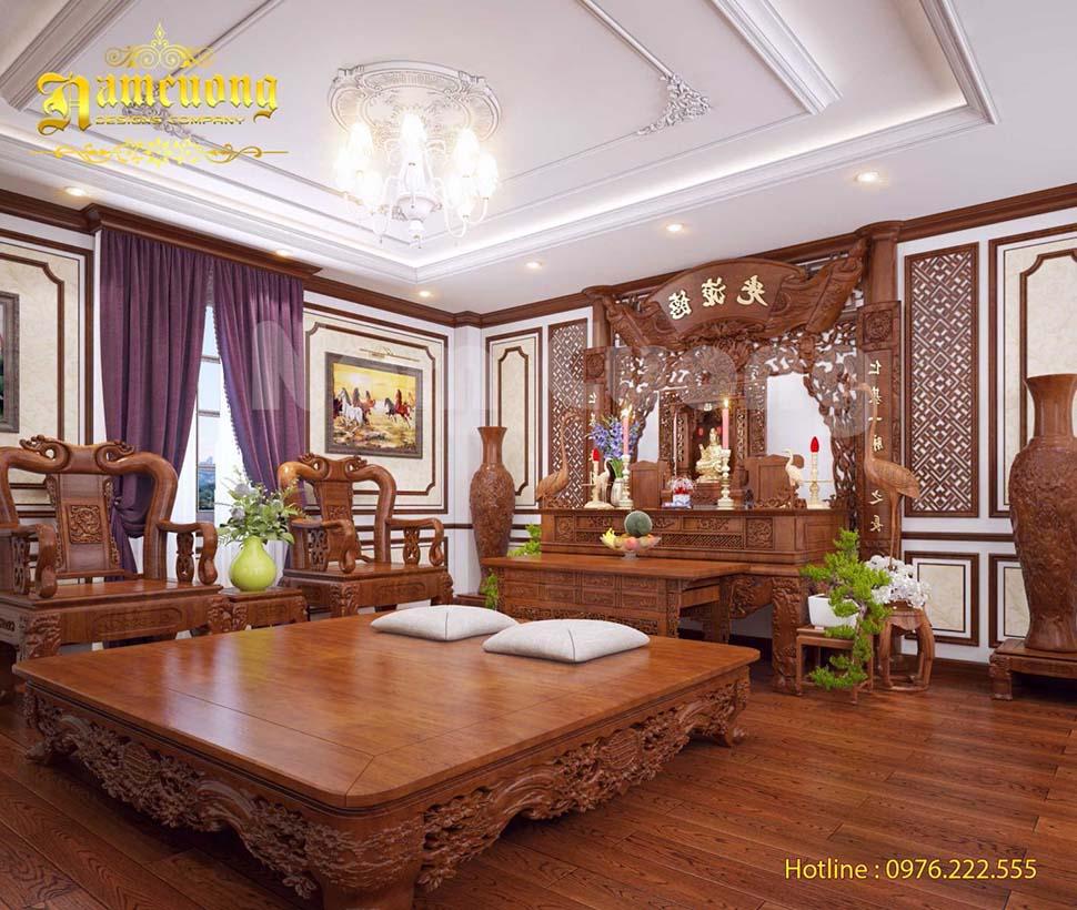 nội thất phòng thờ bằng gỗ