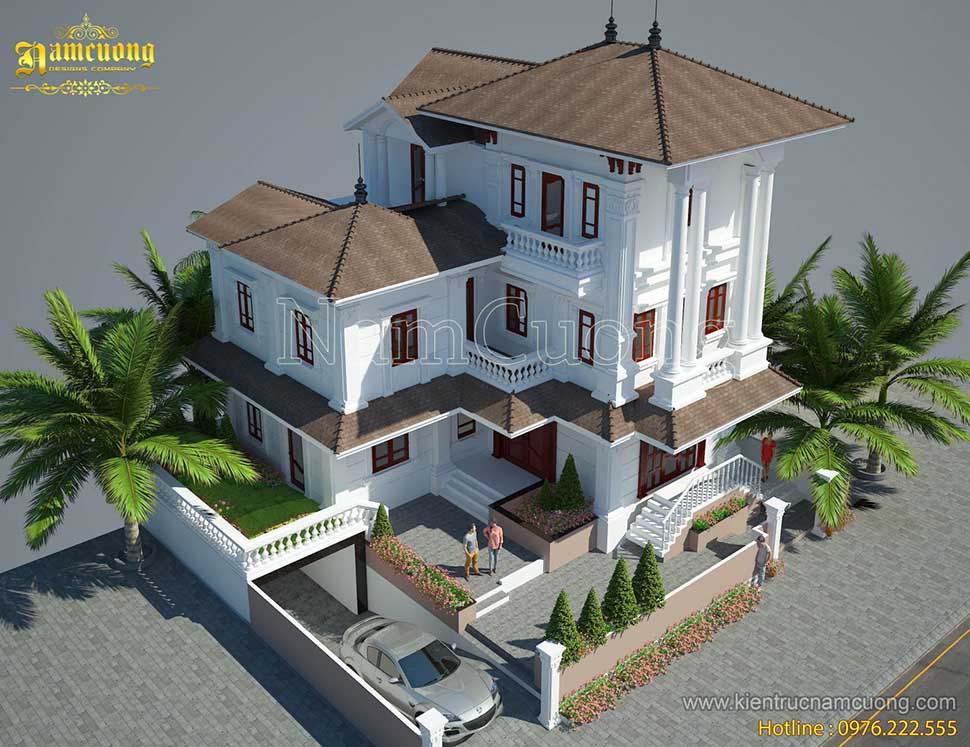 kiến trúc nhà 3 tầng