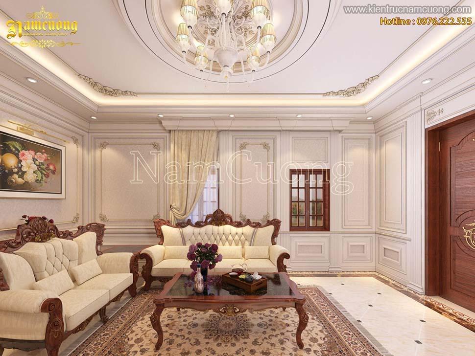 phòng khách bằng gỗ