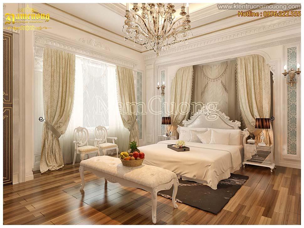 phòng ngủ tân cổ điển 20m2