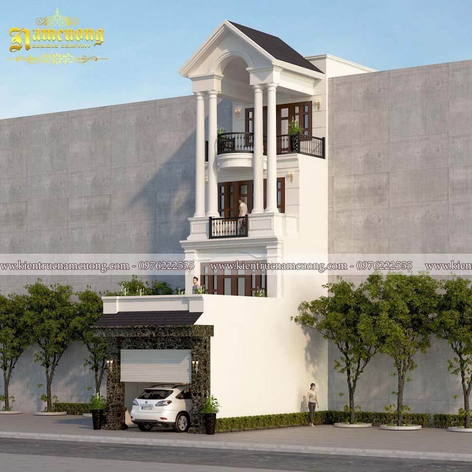 mẫu thiết kế nhà 4 tầng