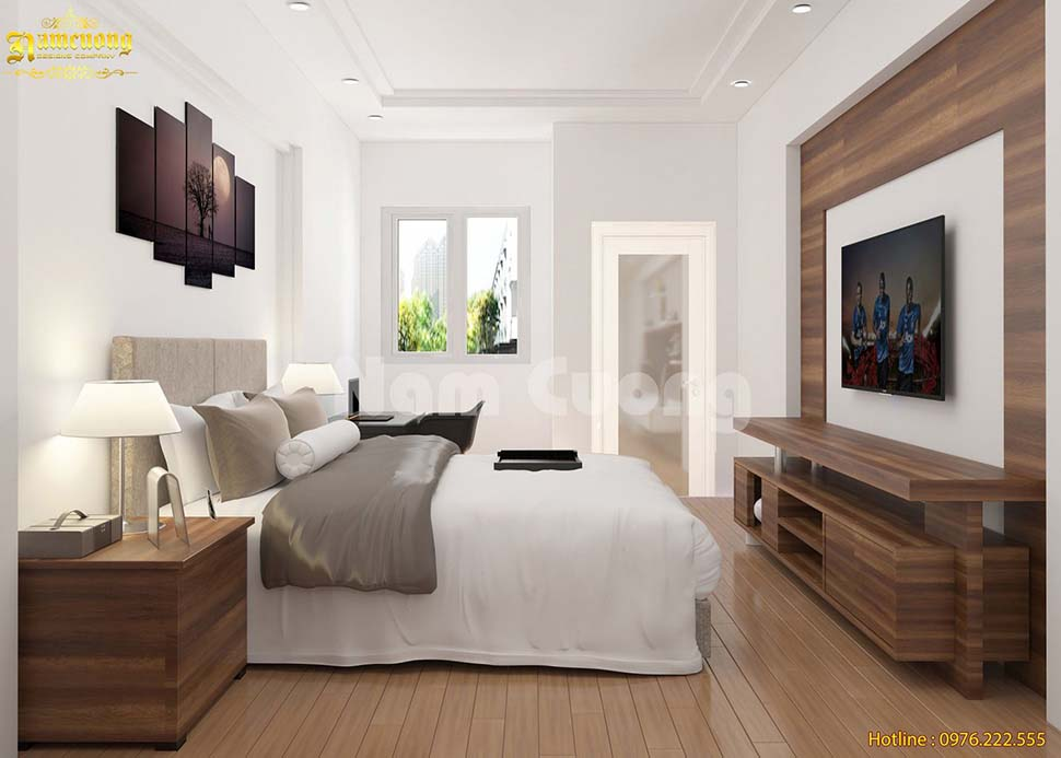 phòng ngủ nhà ống 4 tầng