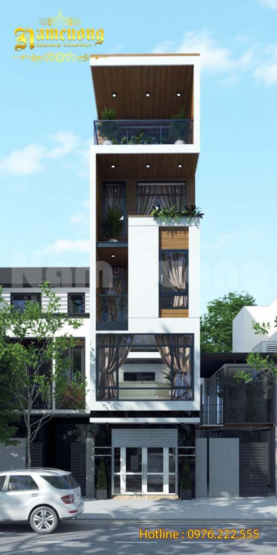 nhà phố hiện đại 5 tầng