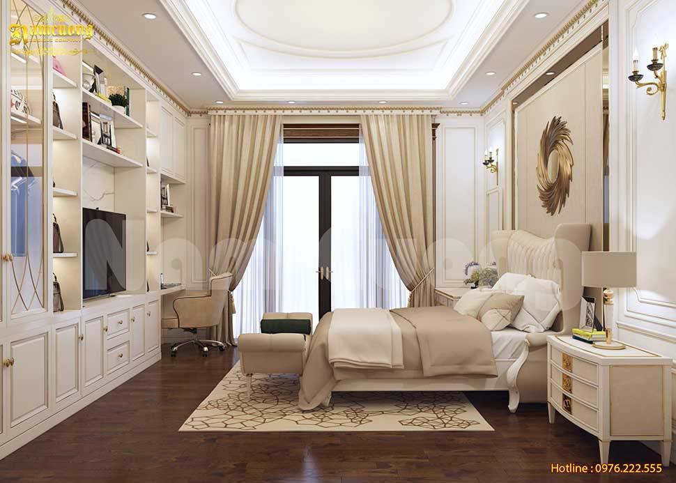 phòng ngủ nhà ống tân cổ điển