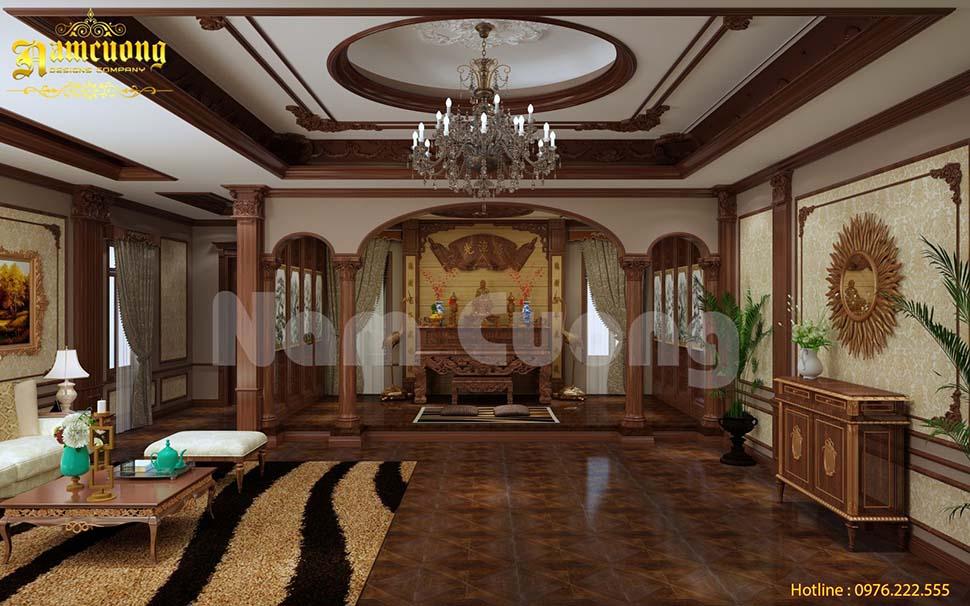 không gian phòng khách rộng