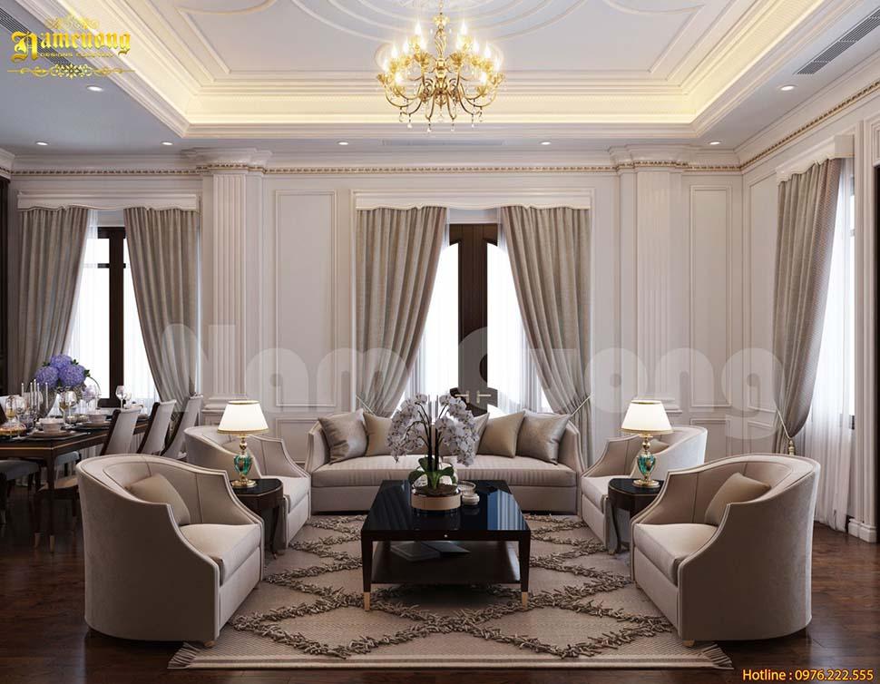 phòng khách 25m2 đẹp