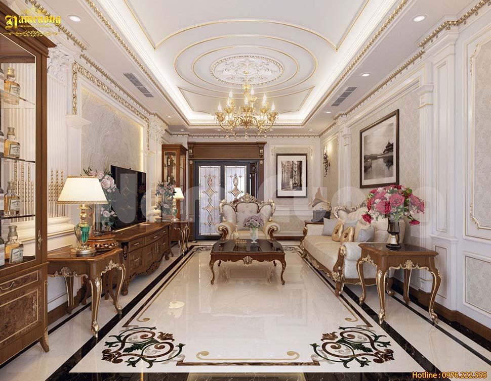 thiết kế phòng khách 30m2