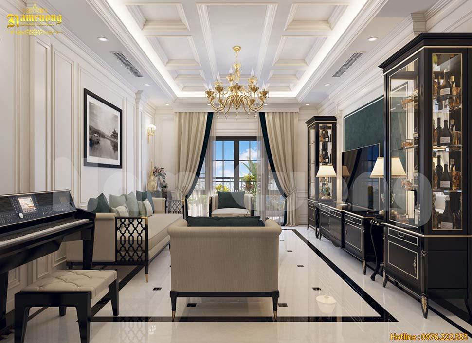 nội thất phòng khách 20m2