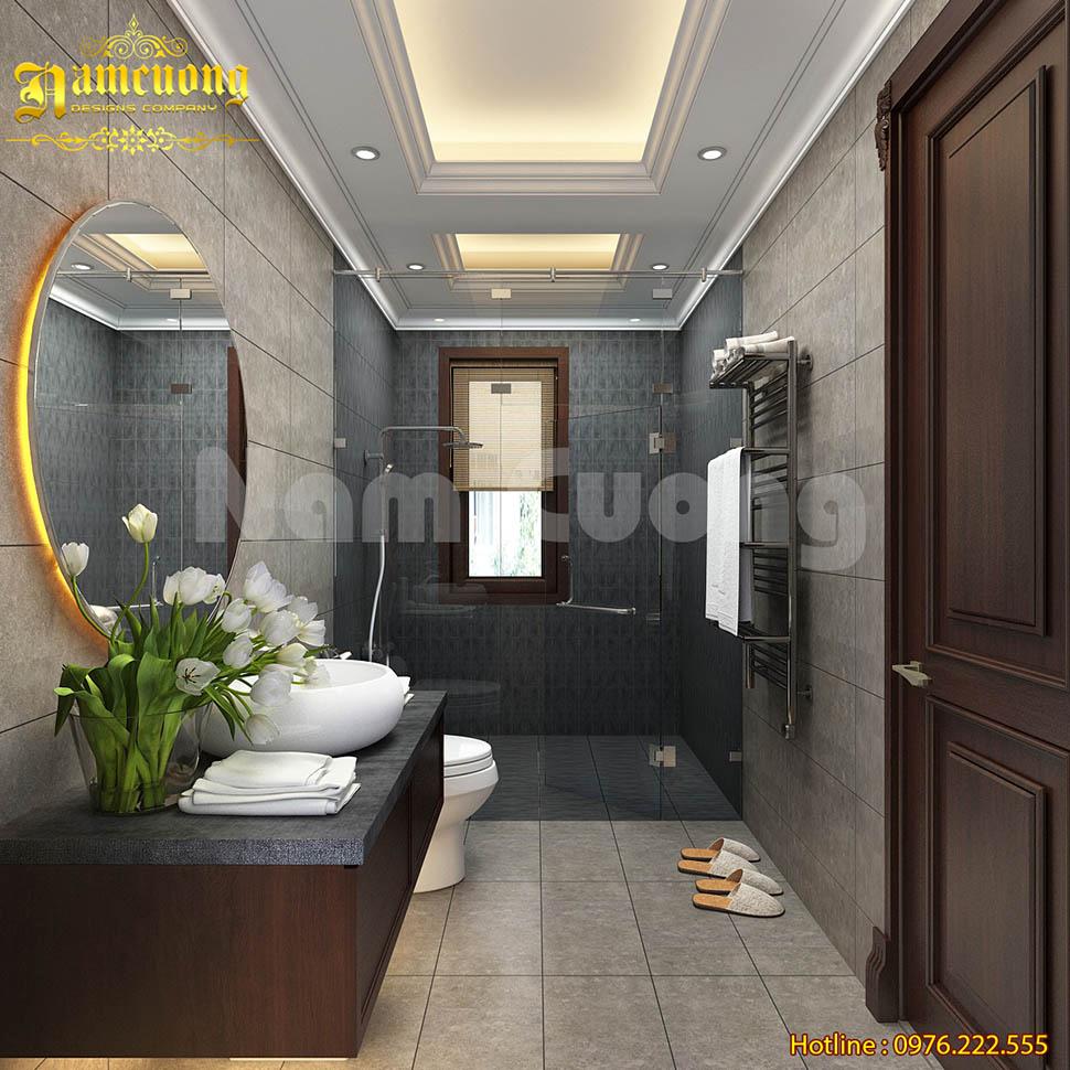 phòng tắm có cửa sổ