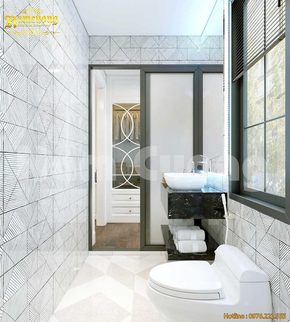phòng tắm chung cư hiện đại
